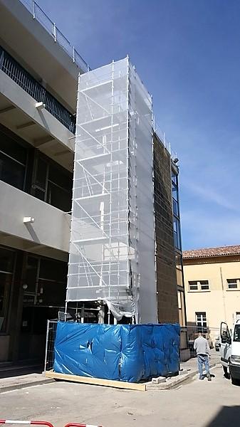 installation d 39 une structure d 39 chafaudage pour ascenseur ext rieur aix en provence. Black Bedroom Furniture Sets. Home Design Ideas